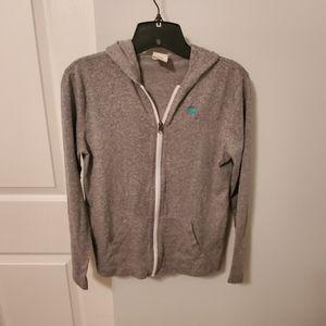 Boys Size M Abercrombie Kids gray hooded jacket